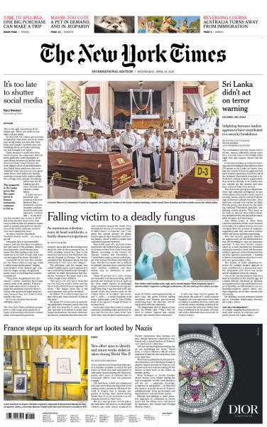 International New York Times - 24 April 2019