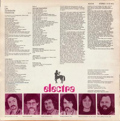 Electra - Die Sixtinische Madonna (Amiga 8 55 802) (GDR 1980) (Vinyl 24-96 & 16-44.1)