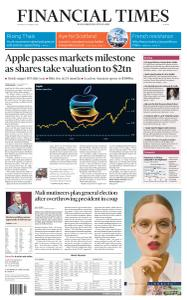 Financial Times Europe - August 20, 2020
