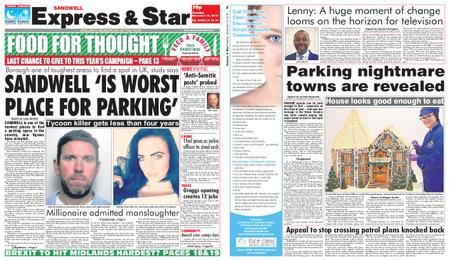 Express and Star Sandwell Edition – December 18, 2018