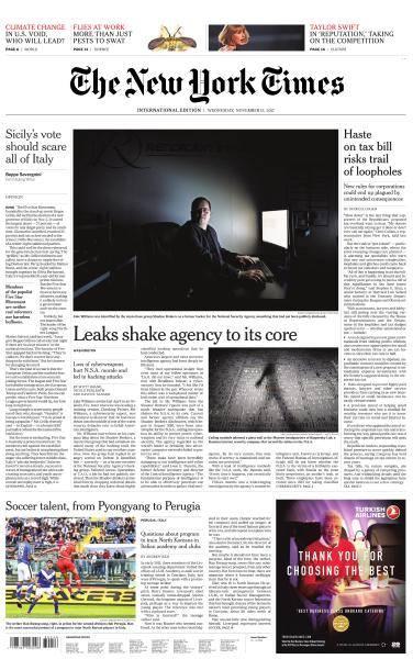 International New York Times - 15 November 2017