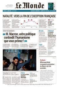 Le Monde du Mercredi 17 Janvier 2018