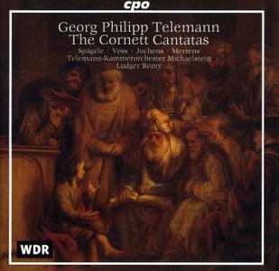 Ludger Remy, Telemann-Kammerorchester Michaelstein - Telemann: The Cornett Cantatas (1998)