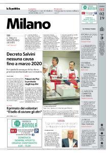 la Repubblica Milano - 3 Febbraio 2019