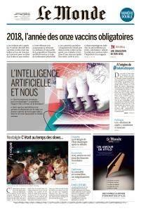Le Monde - Dimanche 31 Décembre 2017 et Mardi 2 Janvier 2018
