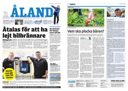Ålandstidningen – 21 april 2020