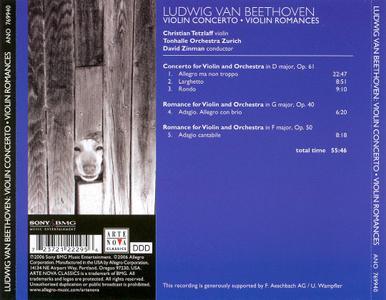 Christian Tetzlaff, David Zinman & Tonhalle Orchestra Zurich - Beethoven: Violin Concerto, Violin Romances (2006)