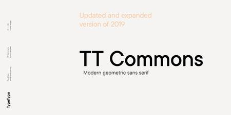 TT Commons Font Family by TypeType