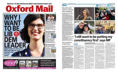 Oxford Mail – March 09, 2020