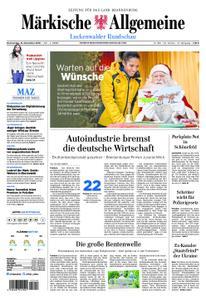Märkische Allgemeine Luckenwalder Rundschau - 15. November 2018