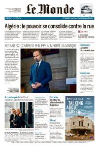 Le Monde du Dimanche 15 et Lundi 16 Décembre 2019