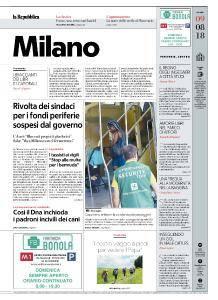 la Repubblica Milano - 9 Agosto 2018
