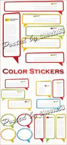 Color Stickers Vector 2