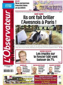 L'Observateur de l'Avesnois - 08 mars 2019