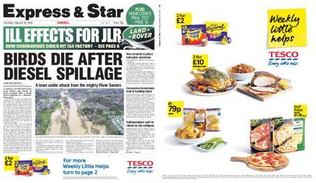 Express and Star Sandwell Edition – February 20, 2020