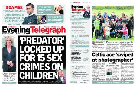 Evening Telegraph First Edition – September 21, 2018