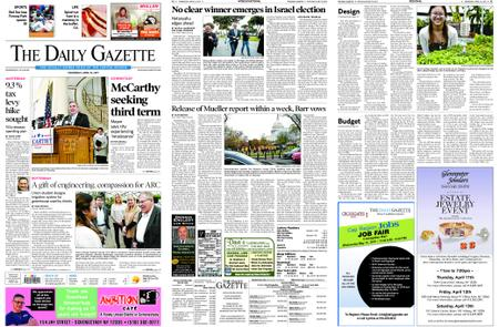 The Daily Gazette – April 10, 2019