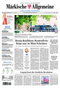 Märkische Allgemeine Luckenwalder Rundschau - 10. Oktober 2019