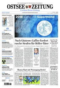 Ostsee Zeitung Wolgast - 03. Januar 2018