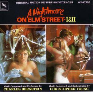 Charles Bernstein, Christopher Young ‎- A Nightmare On Elm Street I & II: Original Motion Picture Soundtracks (1989)