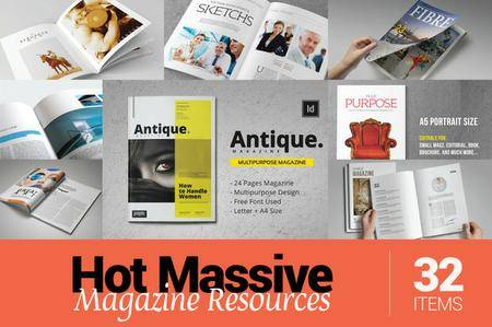 CreativeMarket - Hot Massive Magazine Resources