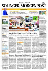 Solinger Morgenpost – 28. Dezember 2018