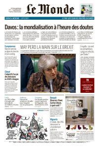 Le Monde du Mercredi 23 Janvier 2019