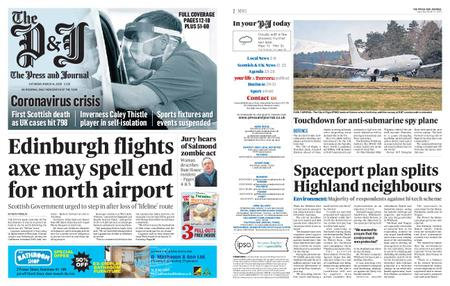 The Press and Journal Moray – March 14, 2020