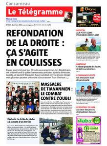 Le Télégramme Concarneau – 04 juin 2019