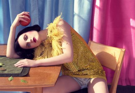 Guinevere van Seenus by Steven Meisel for Vogue Italia January 2008