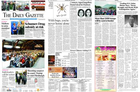 The Daily Gazette – October 30, 2018