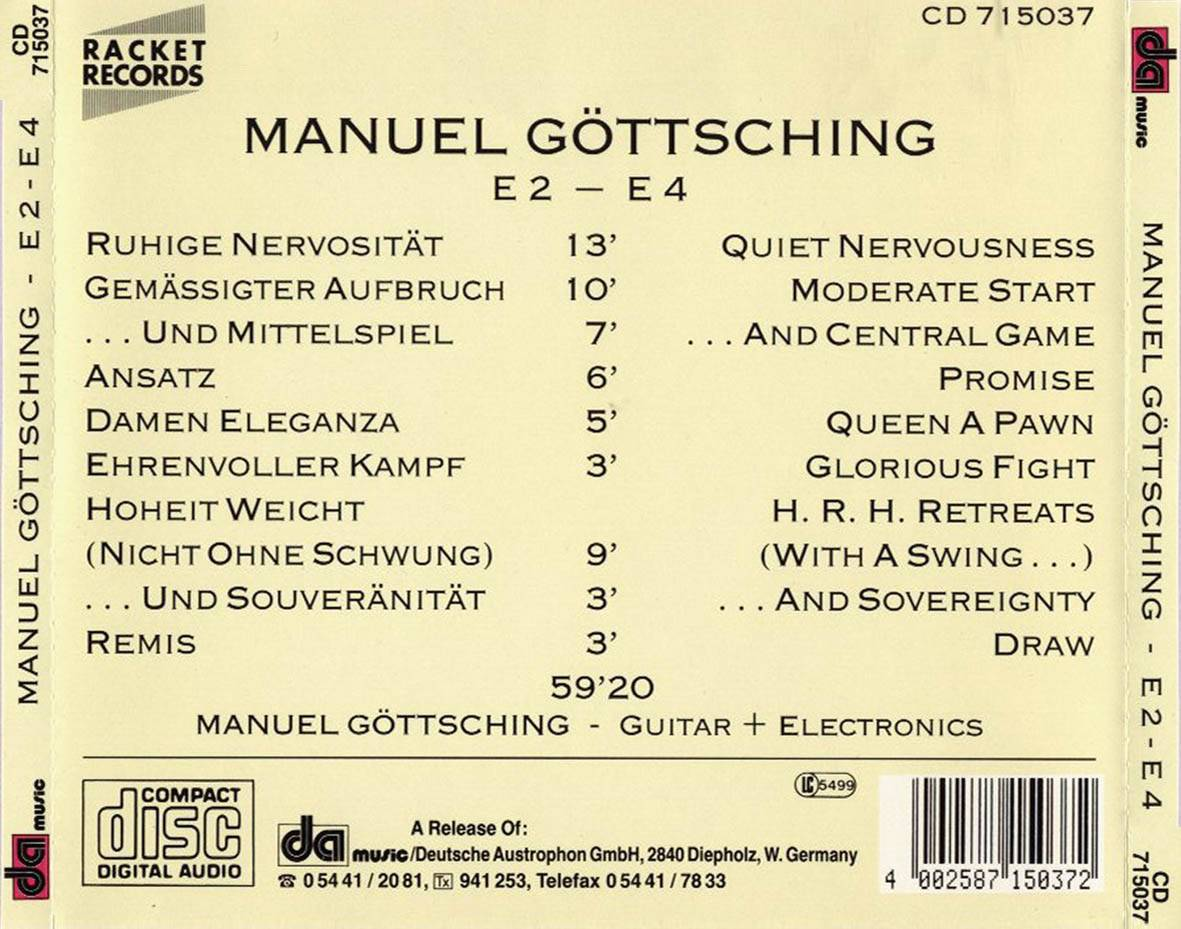 Manuel Gottsching - E2 E4 (1981, Release 1984)