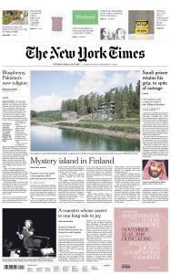 International New York Times - 3-4 November 2018