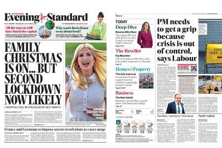 London Evening Standard – October 28, 2020