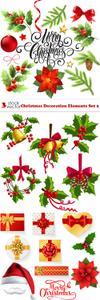 Vectors - Christmas Decoration Elements Set 2