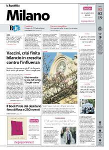 la Repubblica Milano - 2 Marzo 2019