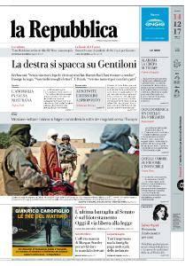 la Repubblica - 14 Dicembre 2017
