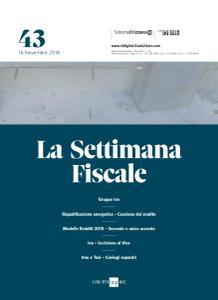 Il Sole 24 Ore La Settimana Fiscale - 16 Novembre 2018