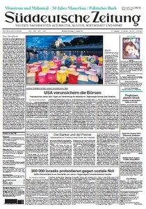 Süddeutsche Zeitung vom 08 August 2011