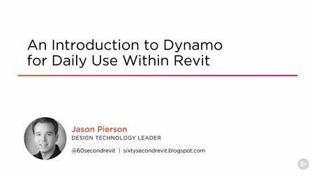 An Introduction to Dynamo for Daily Use Within Revit (2016)