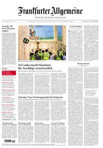 Frankfurter Allgemeine Zeitung F.A.Z. mit Rhein-Main Zeitung - 22. April 2019