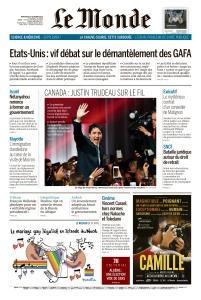 Le Monde du Mercredi 23 Octobre 2019