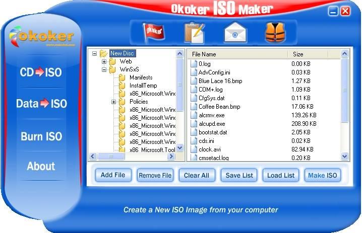 Okoker ISO Maker ver. 1.0