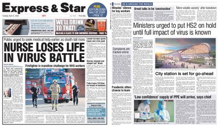 Express and Star City Edition – April 21, 2020