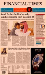 Financial Times Europe – 20 September 2019