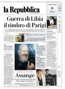 la Repubblica - 12 Aprile 2019