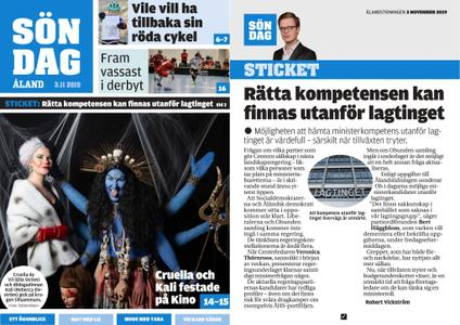 Ålandstidningen – 03 november 2019