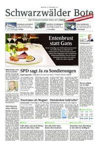 Schwarzwälder Bote St. Georgen, Triberg, Furtwangen - 16. Dezember 2017