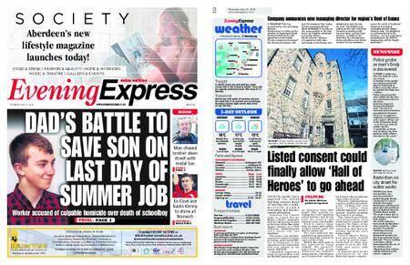 Evening Express – May 31, 2018