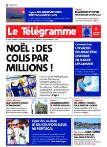 Le Télégramme Brest Abers Iroise – 15 novembre 2020